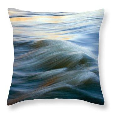 Sunrise Ripple Throw Pillow by Mike  Dawson