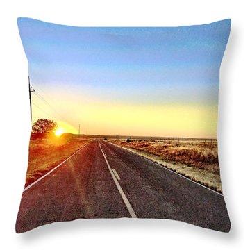 Sunrise Road Throw Pillow