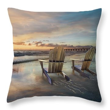 Throw Pillow featuring the photograph Sunrise Romance by Debra and Dave Vanderlaan