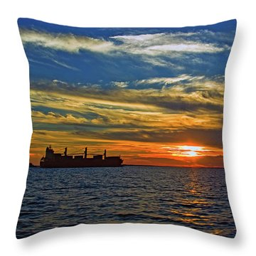 Sunrise Sail Throw Pillow