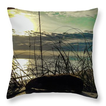 Sunrise Sea Shells Throw Pillow