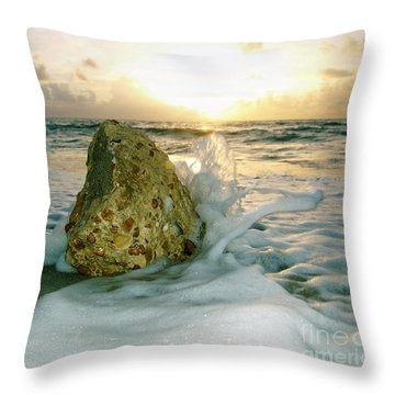 Sunrise Seascape Wisdom Beach Florida C4 Throw Pillow