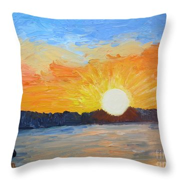 Sunrise At Pine Point Throw Pillow