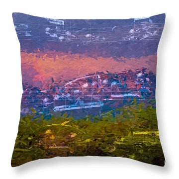 Throw Pillow featuring the digital art Sunrise Serenade 3 by Lon Chaffin