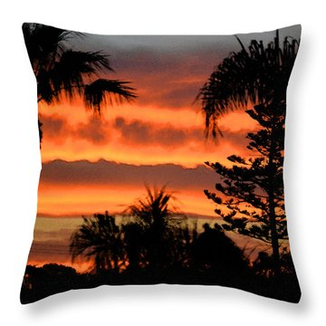 Sunrise Sherbert Throw Pillow by Bill Dutting
