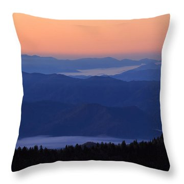 Throw Pillow featuring the photograph Sunrise Silhouette by Paul Schultz