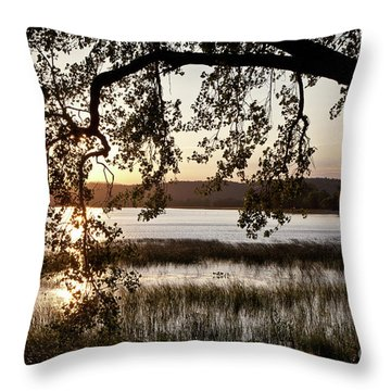 Throw Pillow featuring the photograph Sunrise Silhouette by Susan Cole Kelly