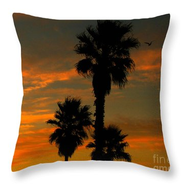 Sunrise Silhouettes Throw Pillow