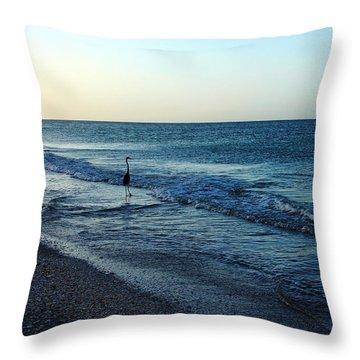Sunrise Solitude Throw Pillow by Debbie Oppermann