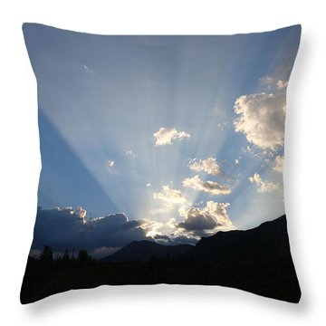 Throw Pillow featuring the photograph Sunrise Spotlight - 2 by Christy Pooschke