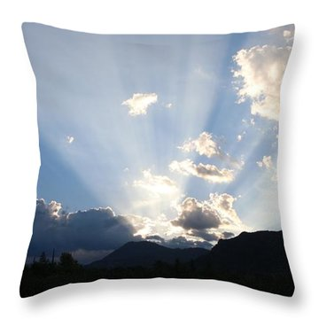 Throw Pillow featuring the photograph Sunrise Spotlight - 4 by Christy Pooschke