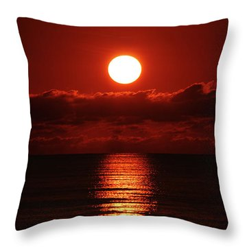 Sunrise Spotlight Delray Beach Florida Throw Pillow