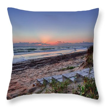 Sunrise Stairs Throw Pillow
