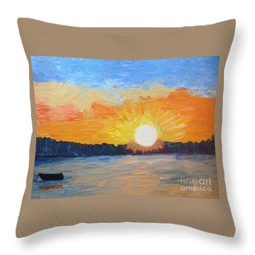 Sunrise Sensation Throw Pillow