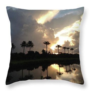 Sunrise Storm Throw Pillow