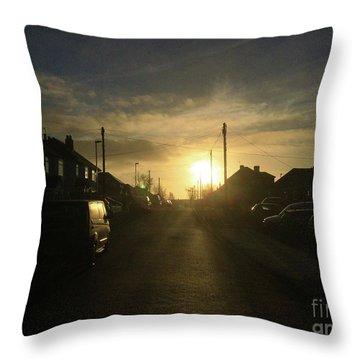 Sunrise Street Throw Pillow by Andrew Middleton