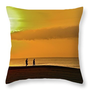 Sunrise Stroll Throw Pillow