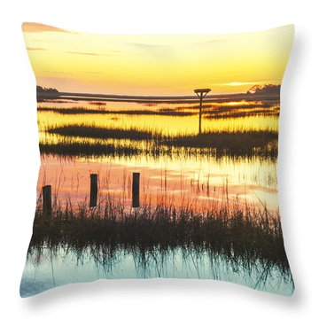 Throw Pillow featuring the photograph Sunrise Sunset Art Photo - Peace Train by Jo Ann Tomaselli