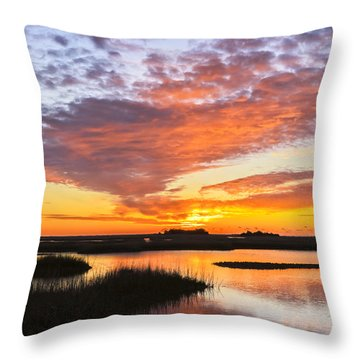 Throw Pillow featuring the photograph Sunrise Sunset Art Photo - Volcano by Jo Ann Tomaselli