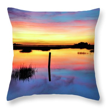 Throw Pillow featuring the photograph Sunrise Sunset Image Art - Be Here Now by Jo Ann Tomaselli