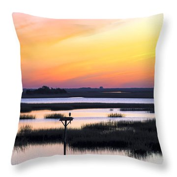 Throw Pillow featuring the photograph Sunrise Sunset Image Art - Dawn Patrol by Jo Ann Tomaselli