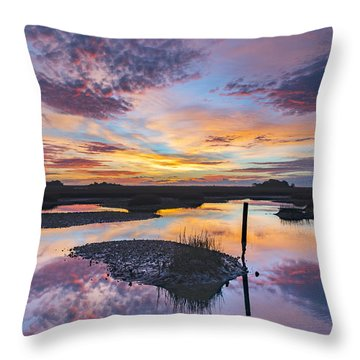 Throw Pillow featuring the photograph Sunrise Sunset Phot Art - Graffiti Sky by Jo Ann Tomaselli