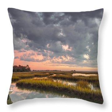 Throw Pillow featuring the photograph Sunrise Sunset Photo Art - Carpe Diem II by Jo Ann Tomaselli