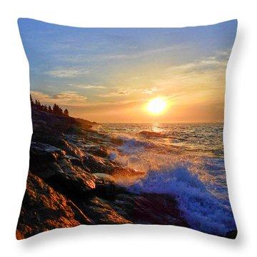 Sunrise Surf Throw Pillow