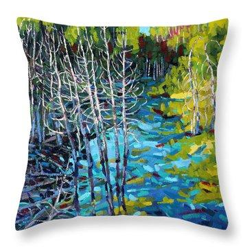 Sunrise Swamp Throw Pillow