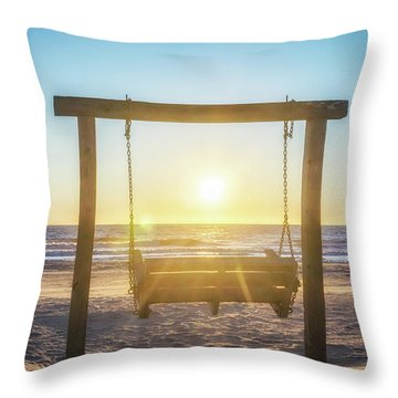 Sunrise Swings Throw Pillow