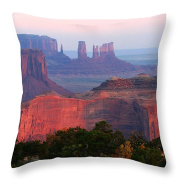 Sunrise Telephoto From Hunt's Mesa Throw Pillow