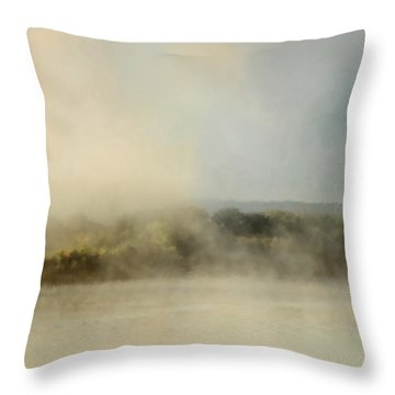 Sunrise Through The Fog Throw Pillow