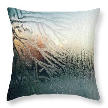 Sunrise Through The Frost Throw Pillow