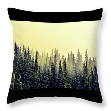 Sunrise Through The Pines Throw Pillow