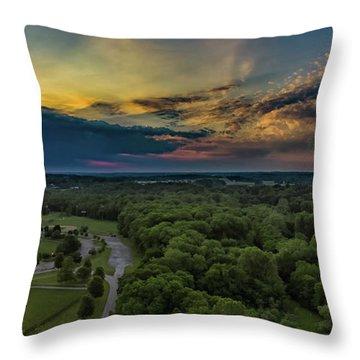 Sunrise Thru The Clouds Throw Pillow