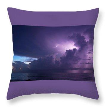 Sunrise Thunderstorm Throw Pillow