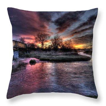 Sunrise Trestle #1 Throw Pillow