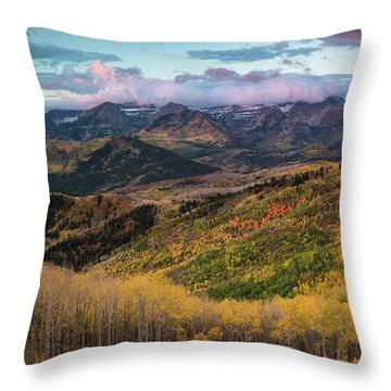 Sunrise View Of Mount Timpanogos Throw Pillow