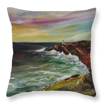 Sunrise Viii Throw Pillow by Jun Jamosmos