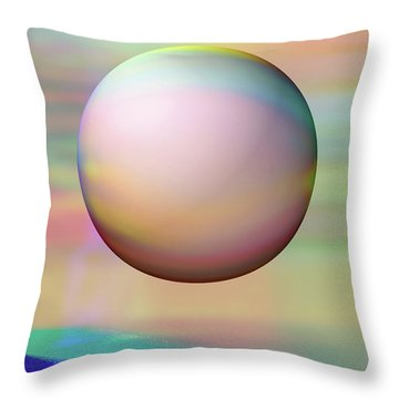 Throw Pillow featuring the digital art Sunrise Visitor by Wendy J St Christopher