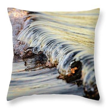 Sunrise Wave Throw Pillow