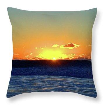 Sunrise Wave I I I Throw Pillow