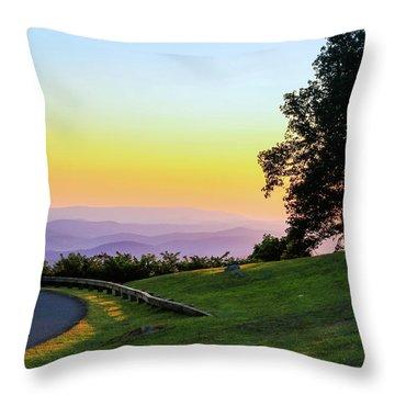 Sunrise Waves Throw Pillow