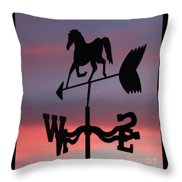 Sunrise Weathervane Throw Pillow