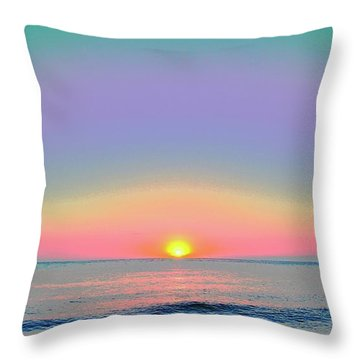 Sunrise With Digits Throw Pillow by Cloe Couturier