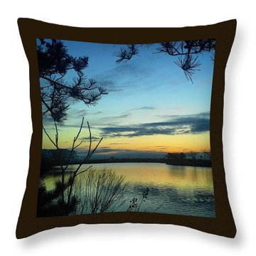Sunrise Serenity Throw Pillow by Lauren Fitzpatrick