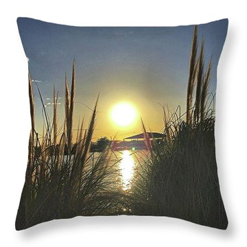 Sunset @ Copper Sky Throw Pillow