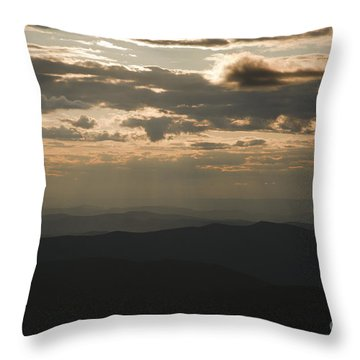 Sunset - White Mountains New Hampshire Usa Throw Pillow by Erin Paul Donovan
