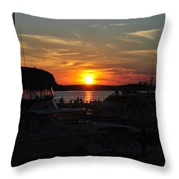 Harbor In Ephraim Throw Pillow