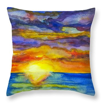 Sunset 1 Throw Pillow by Suzette Kallen